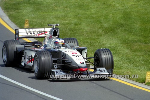 98503 - Mika Häkkinen  McLaren-Mercedes - Winner of the AGP Melbourne 1998 - Photographer Marshall Cass