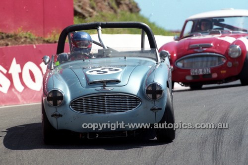 98214 - Mike Broso, Austin Healey BT7 - Donald Healey International Tribute - Bathurst 1998 - Photographer Marshall Cass