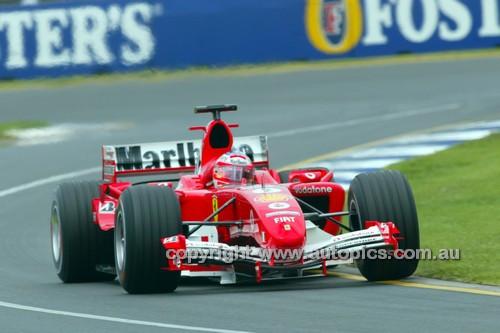 205514 -  Rubens Barrichello  Ferrari - 2nd Place Australian Grand Prix 2005 - Photographer Marshall Cass