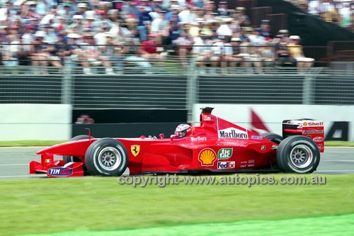 200506 -  Michael Schumacher  Ferrari - Winner of the Australian Grand Prix, Melbourne 2000 - Photographer Marshall Cass