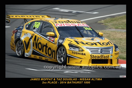 14059-1 -  James Moffat & Taz Douglas, Nissan Altima  - 2nd Outright - 2014 Supercheap Auto Bathurst 1000 - Photographer Craig Clifford
