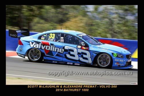 14046-1 - Scott McLaughlin & Alexandre Prémat, Volvo S60 - 2014 Supercheap Auto Bathurst 1000 - Photographer Craig Clifford