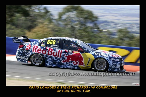 14038-2 - Craig Lowndes & Steven Richards, Holden VF Commodore - 2014 Supercheap Auto Bathurst 1000 - Photographer Craig Clifford