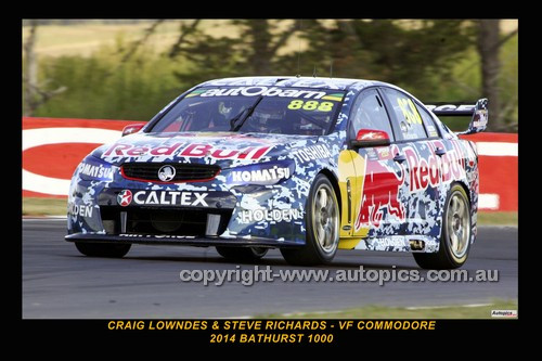 14037-1 - Craig Lowndes & Steven Richards, Holden VF Commodore - 2014 Supercheap Auto Bathurst 1000 - Photographer Craig Clifford