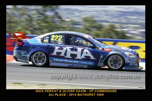14035-1 - Nick Percat & Oliver Gavin, Holden VF Commodore  - 3rd Outright - 2014 Supercheap Auto Bathurst 1000 - Photographer Craig Clifford