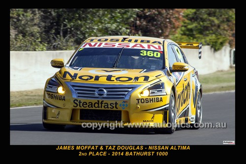 14034-1 - James Moffat & Taz Douglas, Nissan Altima  - 2nd Outright - 2014 Supercheap Auto Bathurst 1000 - Photographer Craig Clifford
