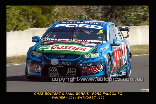 14033-1 - Chaz Mostert & Paul Morris, Ford Falcon FG - 1st Outright - 2014 Supercheap Auto Bathurst 1000 - Photographer Craig Clifford