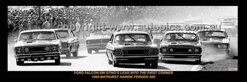330 - Falcon XW Bathurst 500 1969 - A Panoramic Photo 30x10inches.