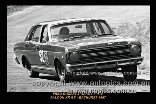 67754-1  - H. Firth / F. Gibson  -  Bathurst 1967 - 1st Outright & Class D Winner - Ford Falcon XR GT - Photographer Lance J Ruting