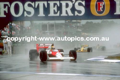 Ayrton Senna - McLaren  -   AGP - Adelaide 1988