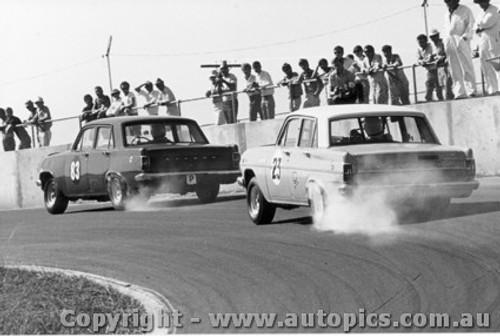 70017  -  Smoking EH s  -  Holden EH  Oran Park  1970 - Photographer David Blanch