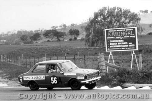 68704  -  BRUCE HINDHAUGH / BOB MORRIS   -  Bathurst 1968 - Class A winner Toyota Corolla