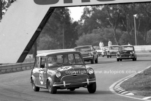 69304-1 - R. Radford, Morris Cooper S - Warwick Farm 1969 - Photographer Lance J Ruting.