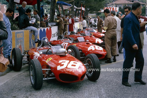 62563 -  #38 Lorenzo Bandini & #40 Willy Mairesse, Ferrari 156 - Monarco Grand Prix 1962