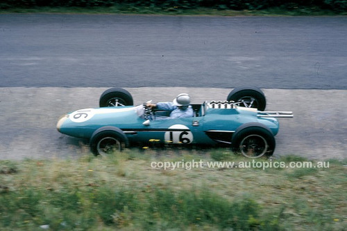 62589 - Jack Brabham, BT3 German Grand Prix,  Nurburgring 1962