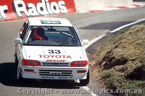 89709  -  M. Dowson / N. Bates    Bathurst 1989  Winners Class 3  Toyota Corolla