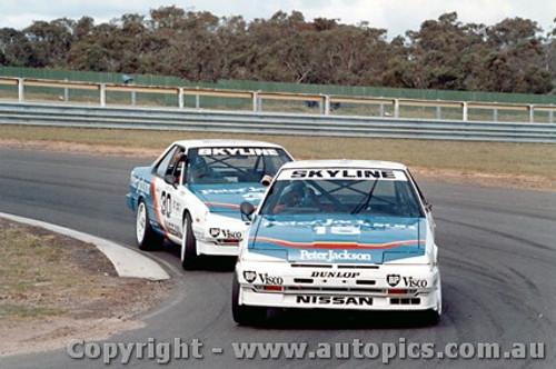 87003-  G. Seton / G. Fury - Sandown 1987 - Nissan Skyline