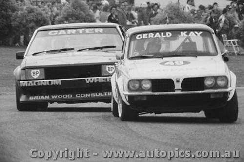 80013 - G. Kay Triumph Dolomite Sprint and M. Carter Ford Falcon XD  - Sandown 1980