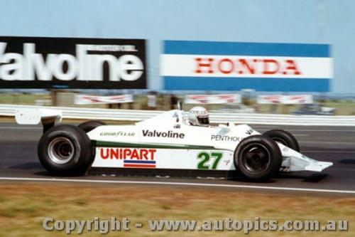80501 - Alan Jones  Williams - Australian Grand Prix Calder 1980