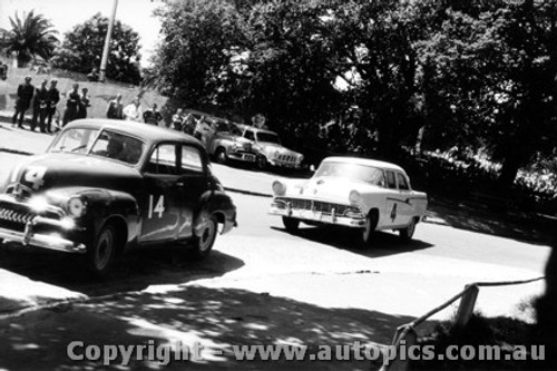 58002 - C. Smith FJ Holden and N. Beechey Ford Customline - Albert Park 1958