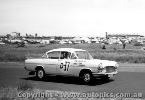 60701 - Coad / Roxburgh Vauxhall Cresta - Winner of the First Armstrong 500 Phillip Island 1960