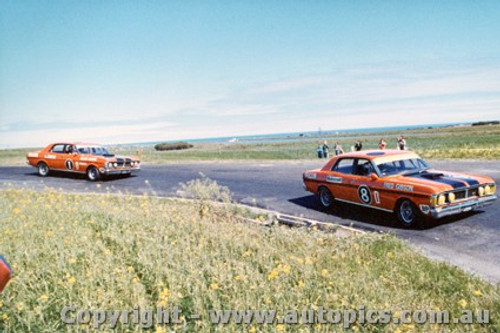 72045 - Gibson and  Moffat - Ford Falcon GTHO Phase 3 - Phillip Island 1972