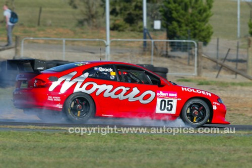203051 - Peter Brock, Holden Monaro CV8  - Wakefield Park June 2003 - Photographer Marshall Cass