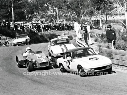 66200 - Fred Gibson & Niel Allen Lotus Elan & Syd Howard Lotus Super 7 - Catalina 1966 - Photographer Lance J Ruting