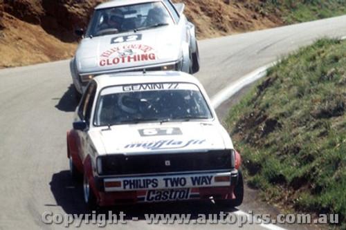 81720  -  D. Seldon / P. Ward Gemini ZZ - J. Duggan / L. Brown  Mazda RX7 -  Bathurst 1981