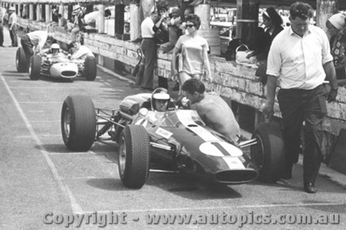 66537 - Jim Clark Lotus - F. Gardner Repco  - Sandown 1966