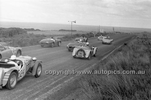 #24 J. Martin, MG TC - Phillip Island - 22nd April 1957 - Code 57-PD-P22457-010