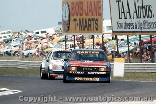 80017 - M. Carter Ford Falcon XD and W. Cullan Holden Commodore  - Calder  1980