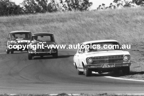 68010  -  Griffiths / Spence   -  Falcon GT / Austin Cooper S - Oran Park 1968