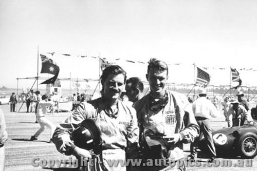 61510 - D. Gurney and G. Hill  BRM P48 - Ballarat Air Strip 1961