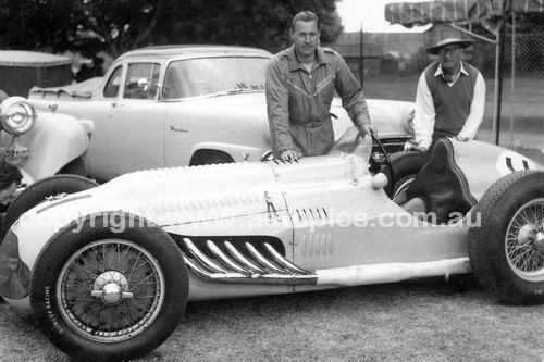 56523 - Doug Whiteford, Largo Talbot  - Australian Grand Prix  Albert Park 1956