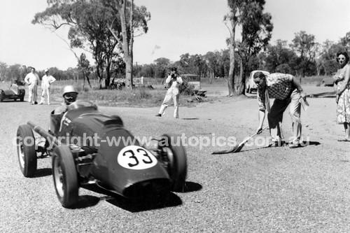 57005 - Len Lukey, Cooper Bristol - 147.4 mph - National Speed Trials 28th September 1957 - Coonabarabran