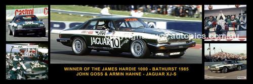 177 - John Goss & Armin Hahne Jaguar XJ-S - Bathurst Winner 1985 -  A Panoramic Photo 30x10 inches.
