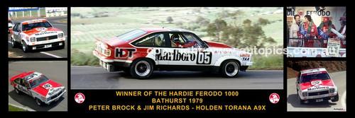 173 - Peter Brock & Jim Richards, Torana A9X - Bathurst Winner 1979 -  A Panoramic Photo 30x10 inches.