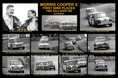 170 - Morris Cooper S - Bathurst Winner 1966 - The first nine place getters.