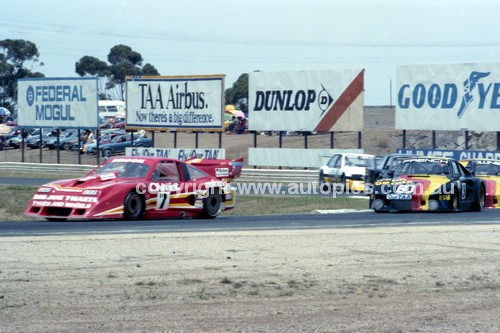 83001a - Peter Brock, Chev Monza & Rusty French, Porsche - Calder 1983 - Photographer Peter D'Abbs