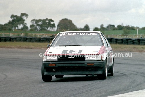 86082 - Bob Holden / Ray Cutchie, Toyota Sprinter  - Sandown Castrol 500 1986 - Photographer Peter D'Abbs