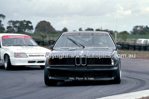 86080 - Jim Richards / Tony Longhurst, BMW 635CSi  - Sandown Castrol 500 1986 - Photographer Peter D'Abbs