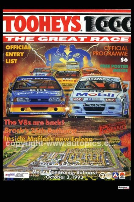 730 - Bathurst Programme Cover 1993