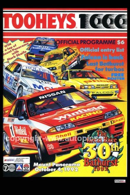 729 - Bathurst Programme Cover 1992