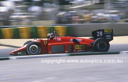 85520 - Stefan Johansson, Ferrari 156/85 -  Australian Grand Prix Adelaide 1985 - Photographer Ray Simpson