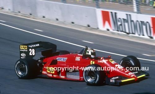 85521 - Stefan Johansson, Ferrari 156/85 -  Australian Grand Prix Adelaide 1985 - Photographer Ray Simpson
