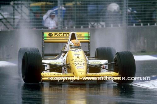 89551 - Pierluigi Martin, Minardi M198 -  Australian Grand Prix Adelaide 1987