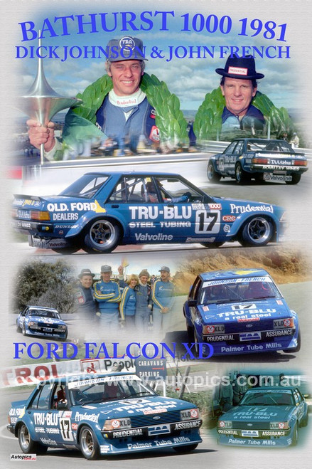 1165 - Dick Johnson & John French, Falcon XD - Bathurst 1000 Winners 1981