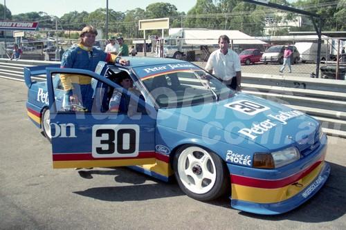93041 - Andrew Ettinghausen / Glenn & Bo Seton - Ford Falcon EB - Amaroo 1993 - Photographer Lance J Ruting