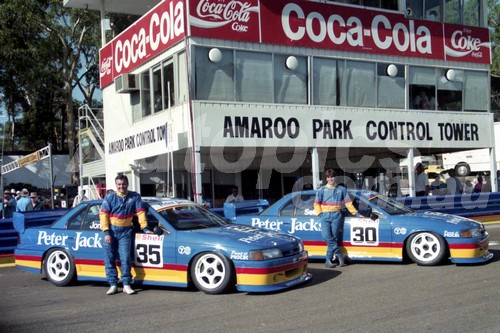93038 - Glenn Seton & Allan Jones - Ford Falcon EB - Amaroo 1993 - Photographer Lance J Ruting